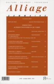 Revue Alliage N.67 ; Perfection Et Prefectionnement - 4ème de couverture - Format classique