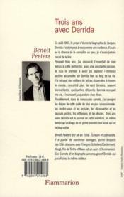 Trois ans avec Derrida ; les carnets d'un biographe - 4ème de couverture - Format classique