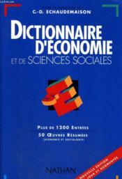 Dictionnaire Economie Sciences Sociales - Couverture - Format classique