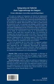 RIVES ; CAHIERS DE L'ARC ATLANTIQUE ; intégration de l'alterité dans l'apprentissage des langues ; formes didactiques et procédures psycholinguistiques - 4ème de couverture - Format classique