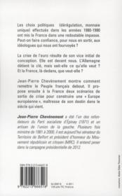 Sortir la France de l'impasse - 4ème de couverture - Format classique