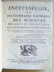 encyclopedie ou dictionnaire raisonne des sciences des arts