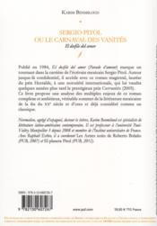 Sergio Pitol ou le carnaval des vanités - 4ème de couverture - Format classique