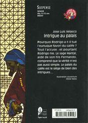 Intrigue Au Palais - 4ème de couverture - Format classique