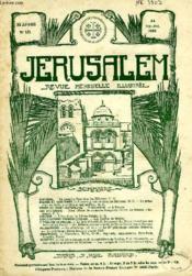 JERUSALEM, 24e ANNEE, N° 151, SEPT.-OCT. 1929, REVUE MENSUELLE ILLUSTREE - Couverture - Format classique