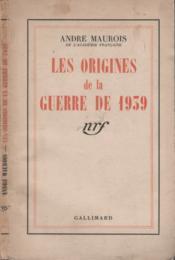 Les origines de la guerre de 1939 - Couverture - Format classique
