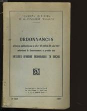 Ordonnances N°1304. - Couverture - Format classique