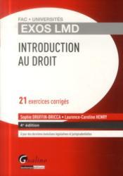 Introduction générale au droit (4e édition) - Couverture - Format classique