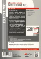 Introduction générale au droit (4e édition) - 4ème de couverture - Format classique