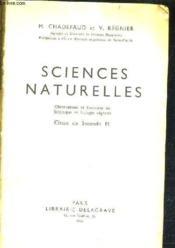 Sciences Naturelles - Observations Et Exercices De Botanique Et Biologie Vegatale / Classe De Seconde M. - Couverture - Format classique