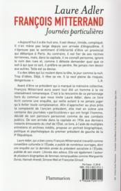 François Mitterrand, journées particulières - 4ème de couverture - Format classique