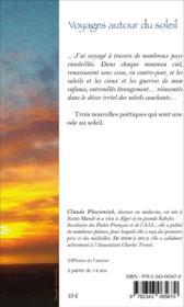 Voyages autour du soleil ; nouvelles poétiques - 4ème de couverture - Format classique