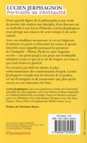Portraits de l'antiquité ; Platon, Plotin, Saint Augustin et les autes - 4ème de couverture - Format classique
