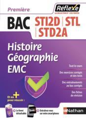 Mémos réflexes T.23 ; bac STI2D ; STL ; STD2A ; histoire ; géographie ; EMC ; première (édition 2018) - Couverture - Format classique