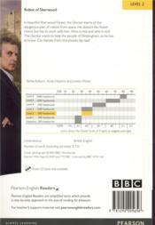 Doctor Who ; the robot of Sherwood ; level 2 - 4ème de couverture - Format classique