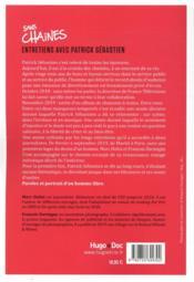 Sans chaines ; entretiens avec Patrick Sébastien - 4ème de couverture - Format classique