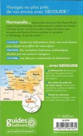 GEOguide ; Normandie - 4ème de couverture - Format classique