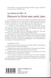 Découvrir le Christ avec saint Jean - 4ème de couverture - Format classique