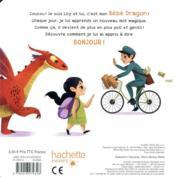 Mon dragon apprend à dire bonjour - 4ème de couverture - Format classique