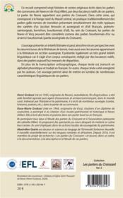 Contes et histoires en parler de naves (allier) ; corpus textuel transcrit et traduit - 4ème de couverture - Format classique