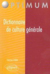 Dictionnaire De Culture Generale - Intérieur - Format classique
