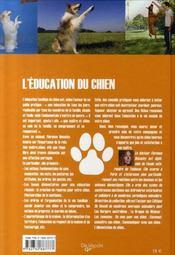 L'éducation du chien - 4ème de couverture - Format classique