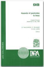 Hazard of pesticides to bees - Couverture - Format classique