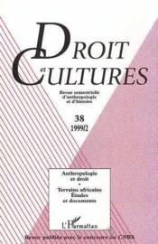 Revue Droit Et Cultures T.38 ; Anthropologie Et Droit - Couverture - Format classique