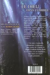 Le dieu dans l'ombre - 4ème de couverture - Format classique