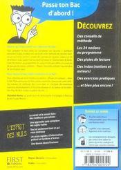 Le Bac Philosophie Pour Les Nuls (edition 2006) - 4ème de couverture - Format classique