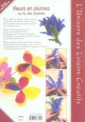 Fleurs en plumes au fil des saisons - 4ème de couverture - Format classique