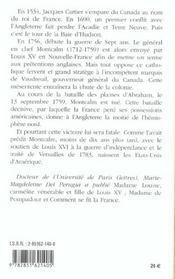 Marquis De Montcalm Louis-Joseph De Saint-Veran - 4ème de couverture - Format classique