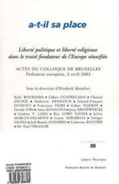 Revue Liberte Politique ; Dieu A-T-Il Sa Place En Europe - Couverture - Format classique