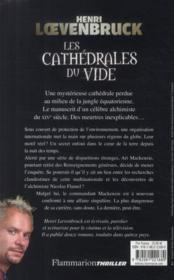 Les cathédrales du vide - 4ème de couverture - Format classique