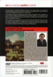 L'Académie Royale des Beaux-arts de San Fernando ; Madrid - 4ème de couverture - Format classique