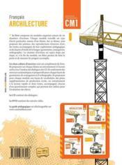ARCHILECTURE ; livre de l'élève ; CM1 - 4ème de couverture - Format classique