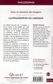 La philosophie du langage (2e édition) - 4ème de couverture - Format classique