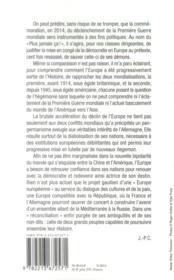 1914-2014 ; l'Europe sortie de l'histoire ? - 4ème de couverture - Format classique