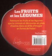 Les fruits et les légumes - 4ème de couverture - Format classique
