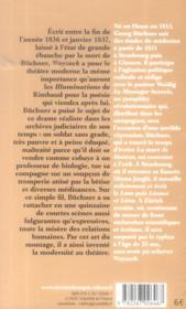 Woyzeck - 4ème de couverture - Format classique