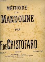 Methode Mandoline 1ere Partie - Couverture - Format classique