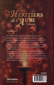 Les héritiers de l'aube t.3 ; hantise - 4ème de couverture - Format classique