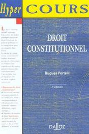 Droit Constitutionnel ; 3e Edition - Intérieur - Format classique