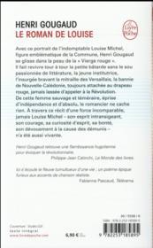 Le roman de Louise - 4ème de couverture - Format classique