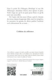 L'Odyssée - 4ème de couverture - Format classique