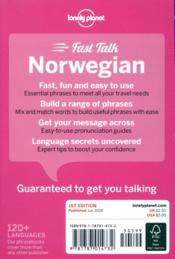 FAST TALK ; Norwegian (édition 2018) - 4ème de couverture - Format classique