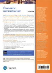 Économie internationale (11e édition) - 4ème de couverture - Format classique