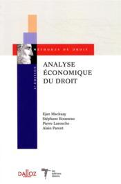 Analyse économique du droit (3e édition) - Couverture - Format classique