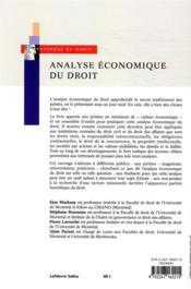 Analyse économique du droit (3e édition) - 4ème de couverture - Format classique