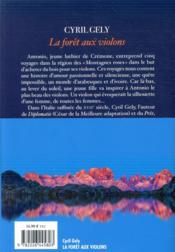 La forêt aux violons - 4ème de couverture - Format classique